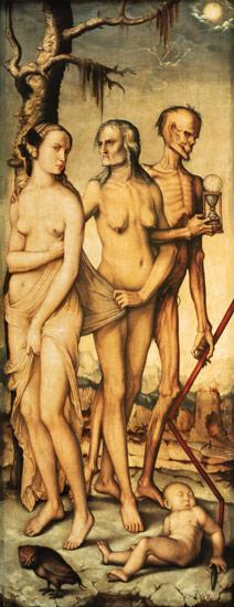 Baldung Grien, Hans : The three ages and the dea...