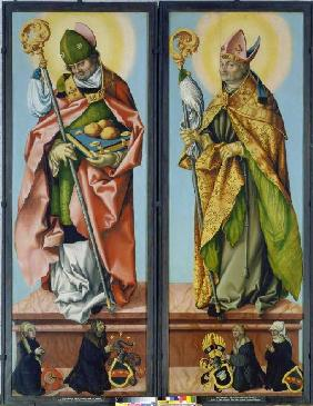 Baldung Grien, Hans : The hll. Nikolaus of Bari ...