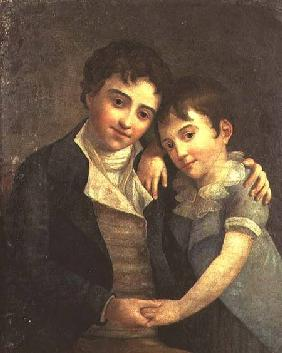 Portrait of Karl Thomas (1784-1858) and Franz Xaver (1791-1844), the two sons of Wolfgang Amadeus Mo