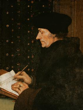 Holbein the Younger, Hans : Erasmus of Rotterdam at th...