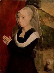 Portrait of a praying woman.