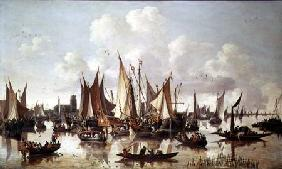Dutch ships at Dordrecht Harbour