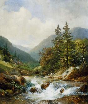 van Sande Backhuyzen, Hendrick : Mountain stream.