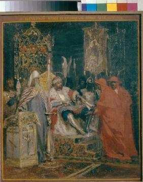 Alexander Nevsky Receiving Papal Legates