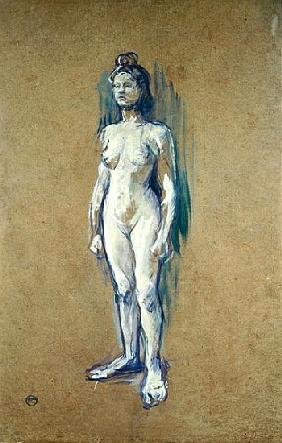 Standing Female Nude, 1898 (oil on card)