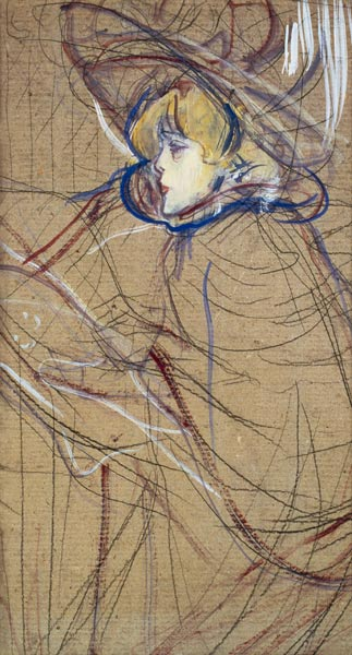 Profile of a Woman Jane Avril Henri de ToulouseLautrec
