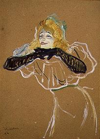 de Toulouse-Lautrec, Henri : The Chanteuse Yvette Guilb...