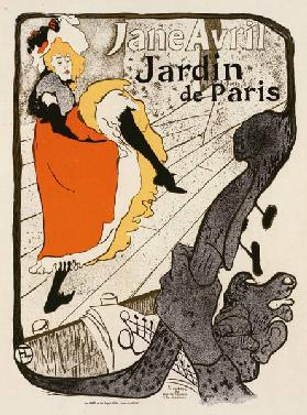Jane Avril at the Jardin de Paris (Poster)