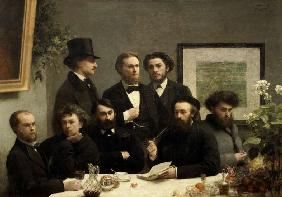 Corner of a Table (French poets at a table)
