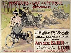 Poster advertising a Parisian car dealer (colour litho)