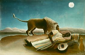 Rousseau, Henri Julien-F�lix : The sleeping gipsy