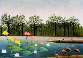 H.Rousseau, The Flamingoes