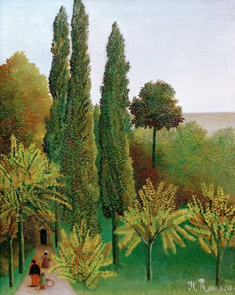 Rousseau, Henri Julien-F�lix : H.Rousseau, Walking in t.P...