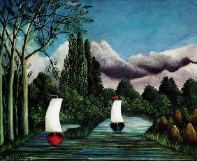 Rousseau, Henri Julien-F�lix : The Banks of the Oise