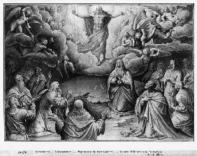 Life of Christ, Ascension, preparatory study of tapestry cartoon for the Church Saint-Merri in Paris