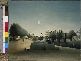 Rousseau, Henri Julien-F�lix : Look from the port of Sain...