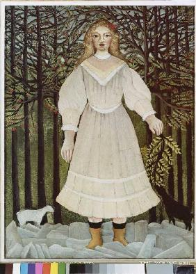 Rousseau, Henri Julien-F�lix : The young girl
