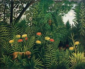 Rousseau, Henri Julien-F�lix : Jungle with tiger - Oilpai...
