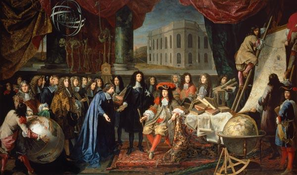 Jean-Baptiste Colbert (1619-1683) Presenting the Members of the Royal Academy of Science to Louis XI