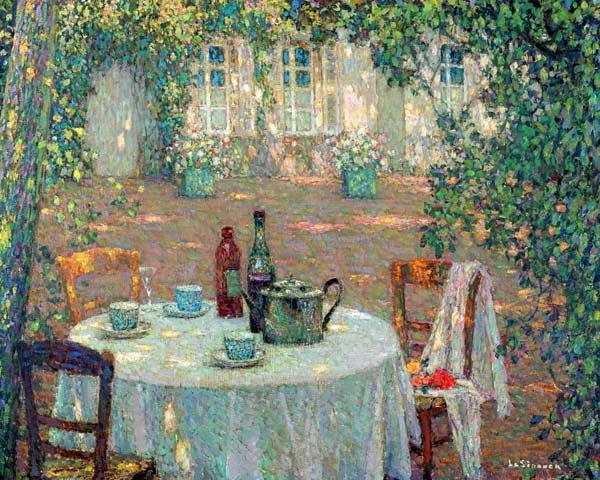 La table au soleil, au jardin - Table in sunlight in the garden