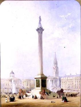 Projected View of Trafalgar Square