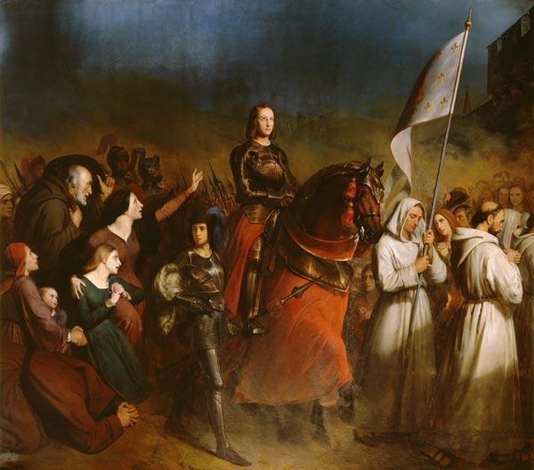 Scheffer, Henry : The Entry of Joan of Arc (...