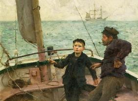 Tuke, Henry Scott : For the first time at the ...