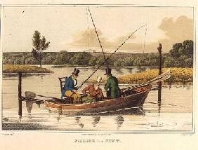 Fishing in a Punt, aquatinted by I. Clark, pub. by Thomas McLean
