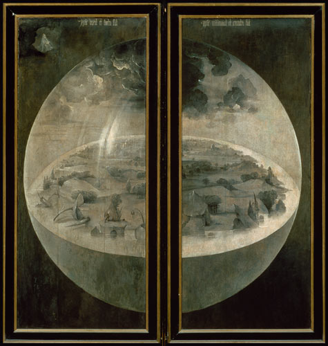 The Creation of the World, closed doors - Hieronymus Bosch ...