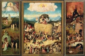 Triptych of the haycarts, total, open.