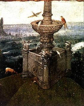 The Fountain in the Garden, detail from a panel of an altarpiece thought to be of the Last Judgement