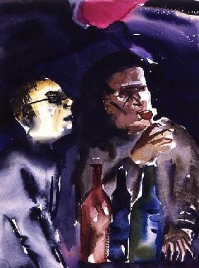 Jazz Cafe, 1998 (w/c on paper)