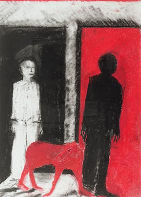 Red Dog, 2004 (pastel & charcoal on paper)