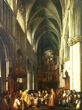 Entrance of Louis XIV (1638-1715) into the Cathedral of Saint-Omer