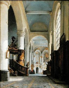 Interior of the Church of St. Denis, Saint-Omer