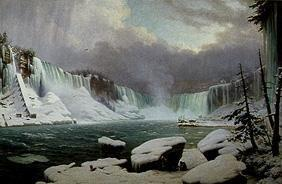 Panorama of the Niagara cases in winter