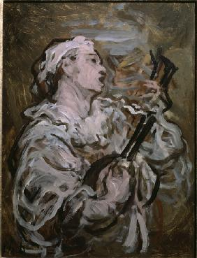 Daumier / Pierrot with Guitar / 1869