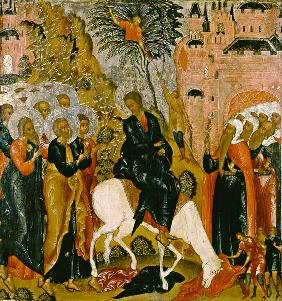 Ikone (russisch) : Move of Jesu in Jerusalem.