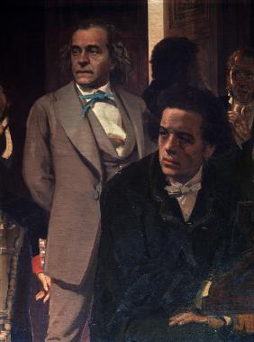The composers Anton Rubinstein and Alexander Serov (Detail of the painting Slavonic composers)
