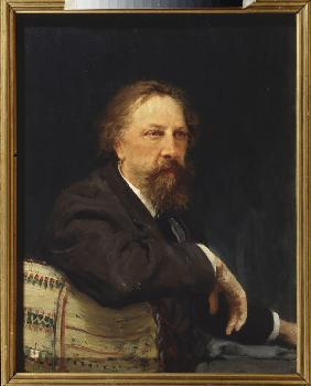 Portrait of the author Count Aleksey Konstantinovich Tolstoy (1817-1875)