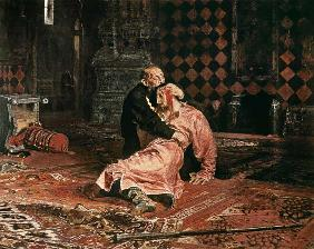 Tsar Ivan the terrible with his son Ivan on November 16th, 1581st 1885.