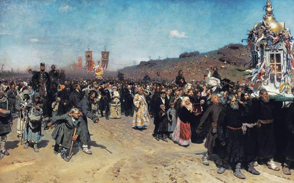 Cross procession in the government Kursk.