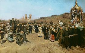 Repin, Ilja Efimowitsch : Cross procession in the go...