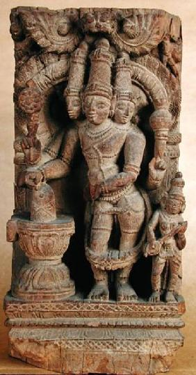 Brahma Giving Himself Up to the Cult of Lingam