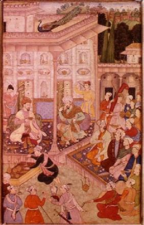 Meeting between Babur and Bedi Az Zaman Mirza