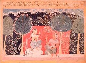 Two Princes in a Garden, from the 'Gita Govinda'