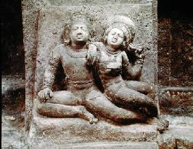 Relief of a Mithuna couple, from Cave 4