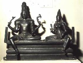 Shiva and Parvati, Chola Dynasty