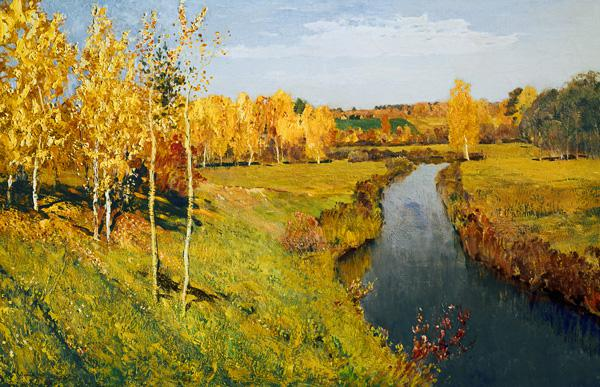 Lewitan, Isaak Iljitsch : Goldener Herbst