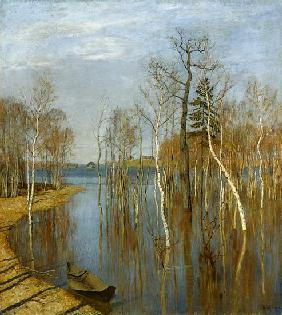 Lewitan, Isaak Iljitsch : Spring, High Water